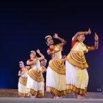 Dr Kanak Rele's disciples perform Mohiniattam at Konark Festival at Konark on Tuesday. Photograph: Odishabytes