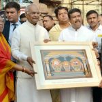 The President, Shri Ram Nath Kovind during his visit to Sri Jagannath Temple, at Puri, in Odisha on March 18, 2018. The Union Minister for Petroleum & Natural Gas and Skill Development & Entrepreneurship, Shri Dharmendra Pradhan is also seen.