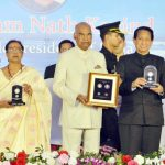 The President, Shri Ram Nath Kovind releasing the commemorative coin of Lord Jagannath, at the Centenary Celebration of Rashtriya Sanskrit Sansthan, at Puri, in Odisha on March 18, 2018. The Governor of Odisha, Dr. S.C. Jamir and the Union Minister for Petroleum & Natural Gas and Skill Development, Entrepreneurship, Shri Dharmendra Pradhan are also seen.
