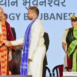 The President, Shri Ram Nath Kovind during the convocation of IIT Bhubaneswar in Odisha on March 18, 2018. The Governor of Odisha, Dr. S.C. Jamir is also seen.