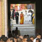 president kovind at puri jagannath temple with dharmendra pradhan