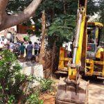 Demolition in Niladri Vihar Sector-5 between OERC Building to Utkal Health Care in Mouza-C.S.Pur & Patia.